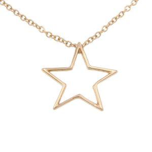 Collana stella a filo oro