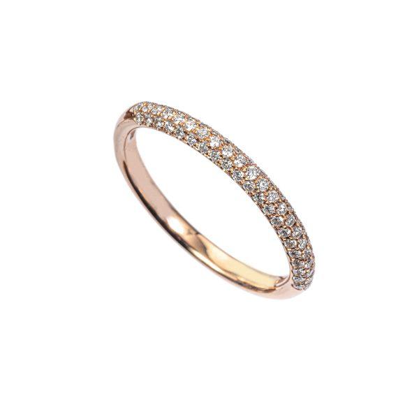 Anello Fedina Oro rosa Diamanti
