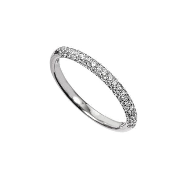 Anello Fedina Oro Bianco Diamanti
