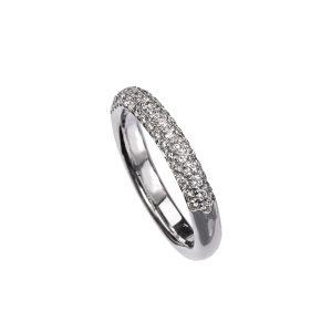 Anello Fedina Oro Bianco Diamanti 4
