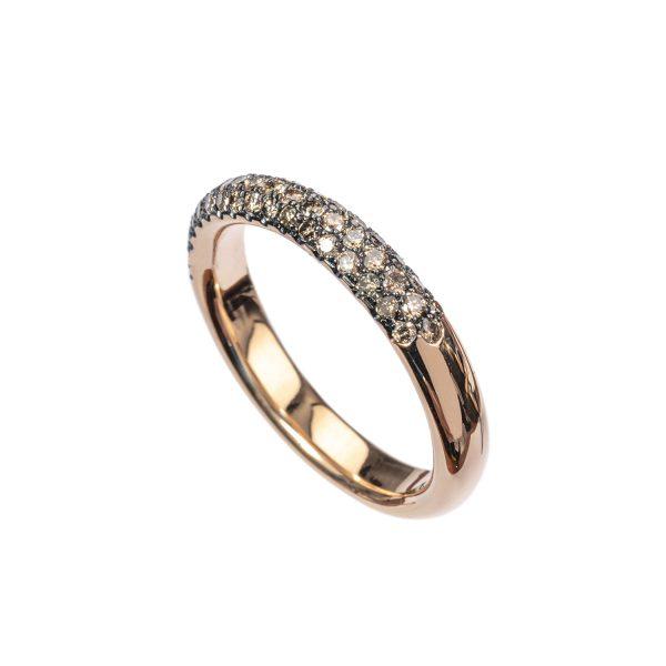 Anello Fedina Oro Rosa Diamanti 4