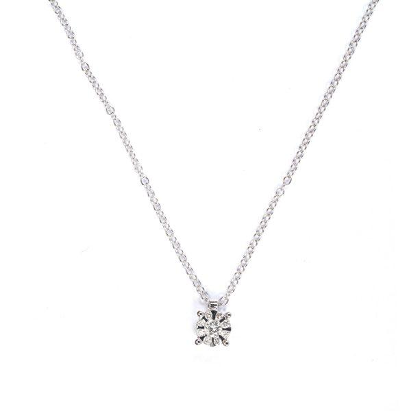 Collanina Punto Luce con Diamanti