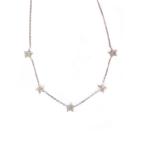 Collanina Cinque Stelle con Diamanti