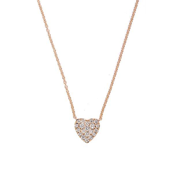 Collanina Cuore con Diamanti