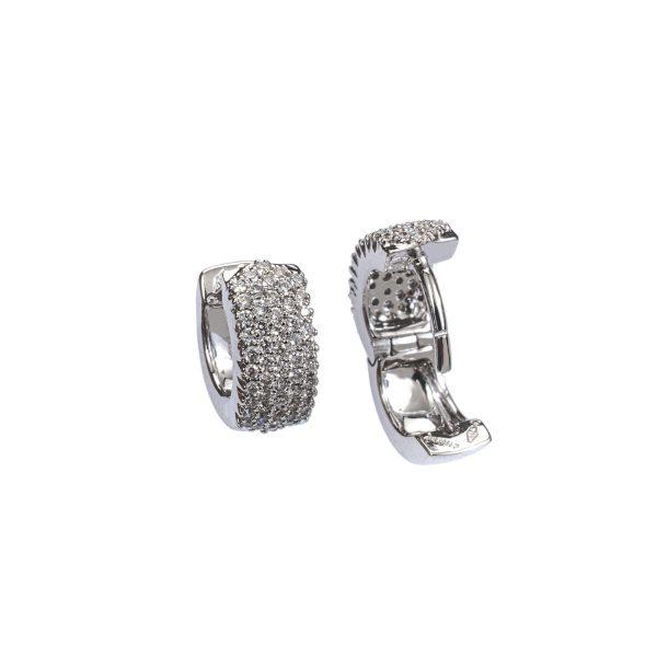 Orecchini Cerchietto con Diamanti 3
